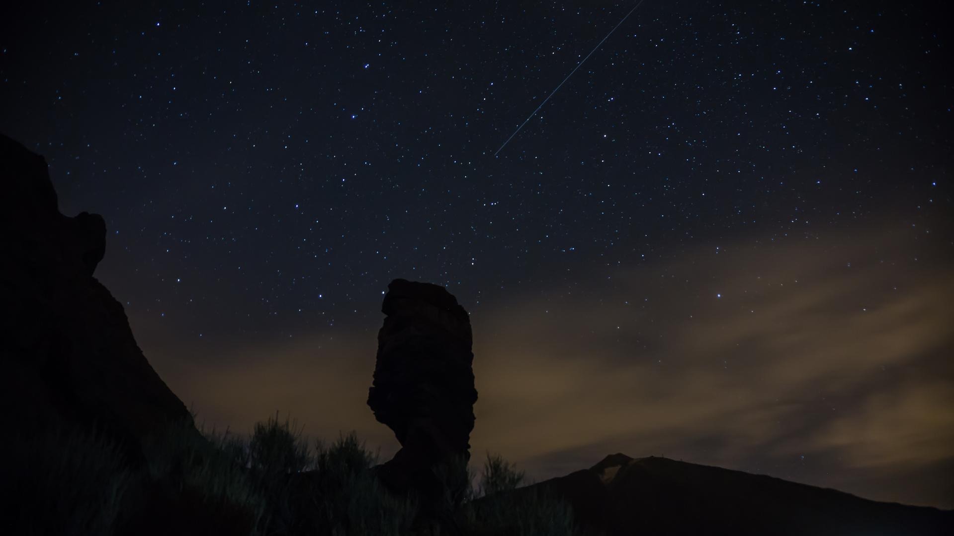 Sternenhimmel über den Roques de Garcia