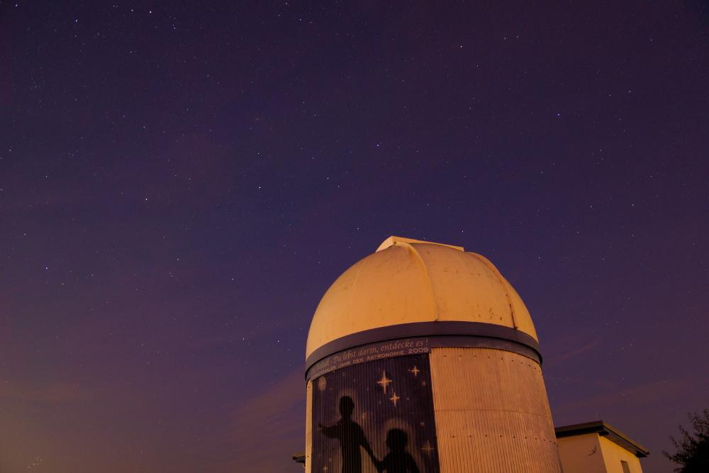 Sternhimmel über der Sternwarte Gönnsdorf