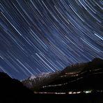 Sternspuren am Timmelsjoch