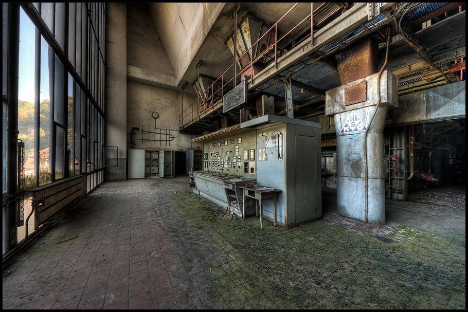 Steuerstand eines Kraftwerkes