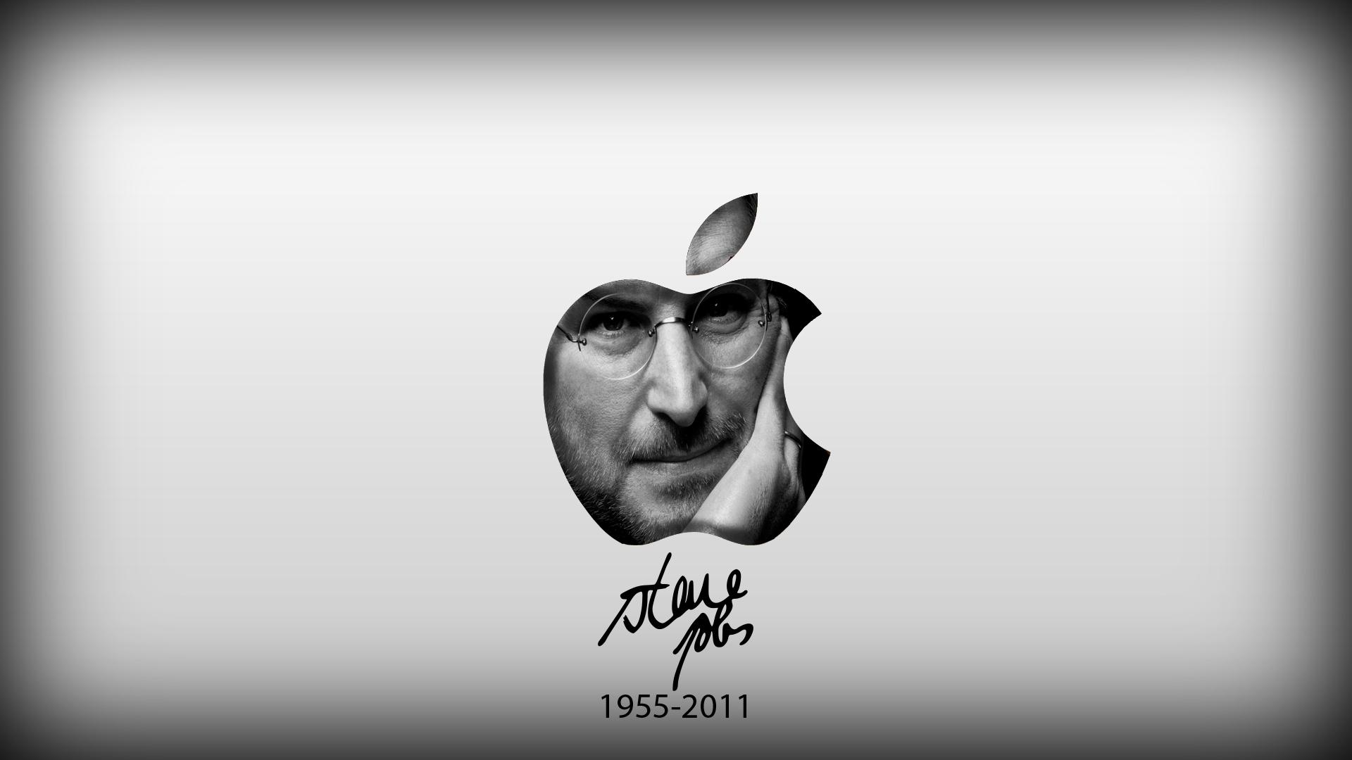Steve Jobs Tribute Wallpaper Photo Image Portrait Men