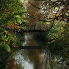 Steverbrücke im beginnenden Herbst