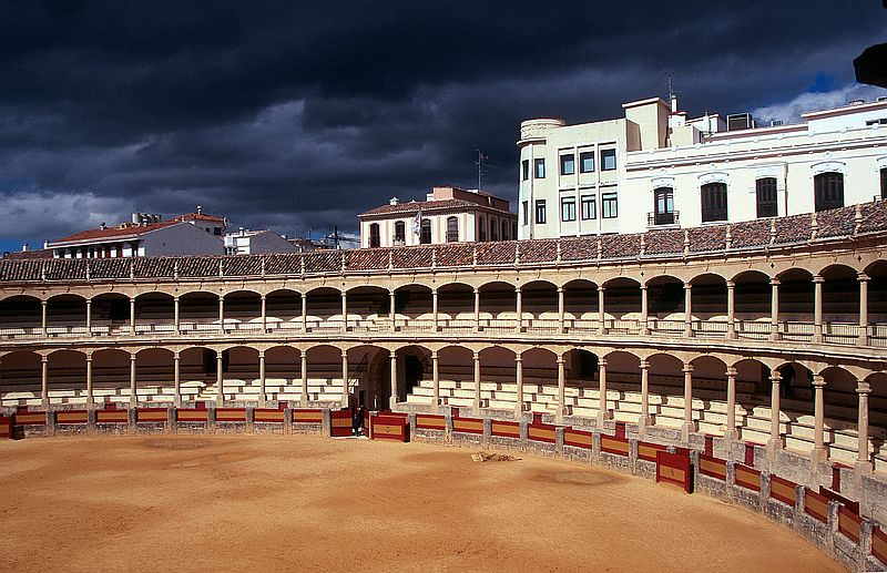 Stierkampfarena in Ronda (Andalusien)