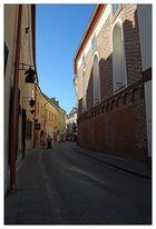 """Stikliu Strasse in der Altstadt von Vilnius im ehem. """"kleinen Ghetto"""""""