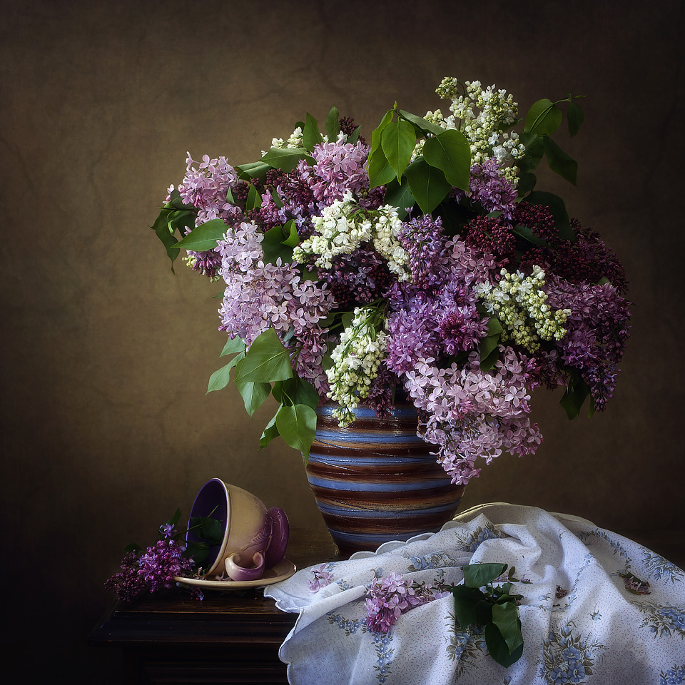 Still Life with a Multicolored Lilac