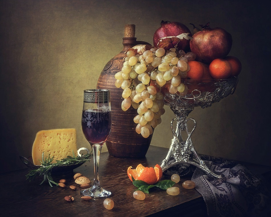 Still life with young wine
