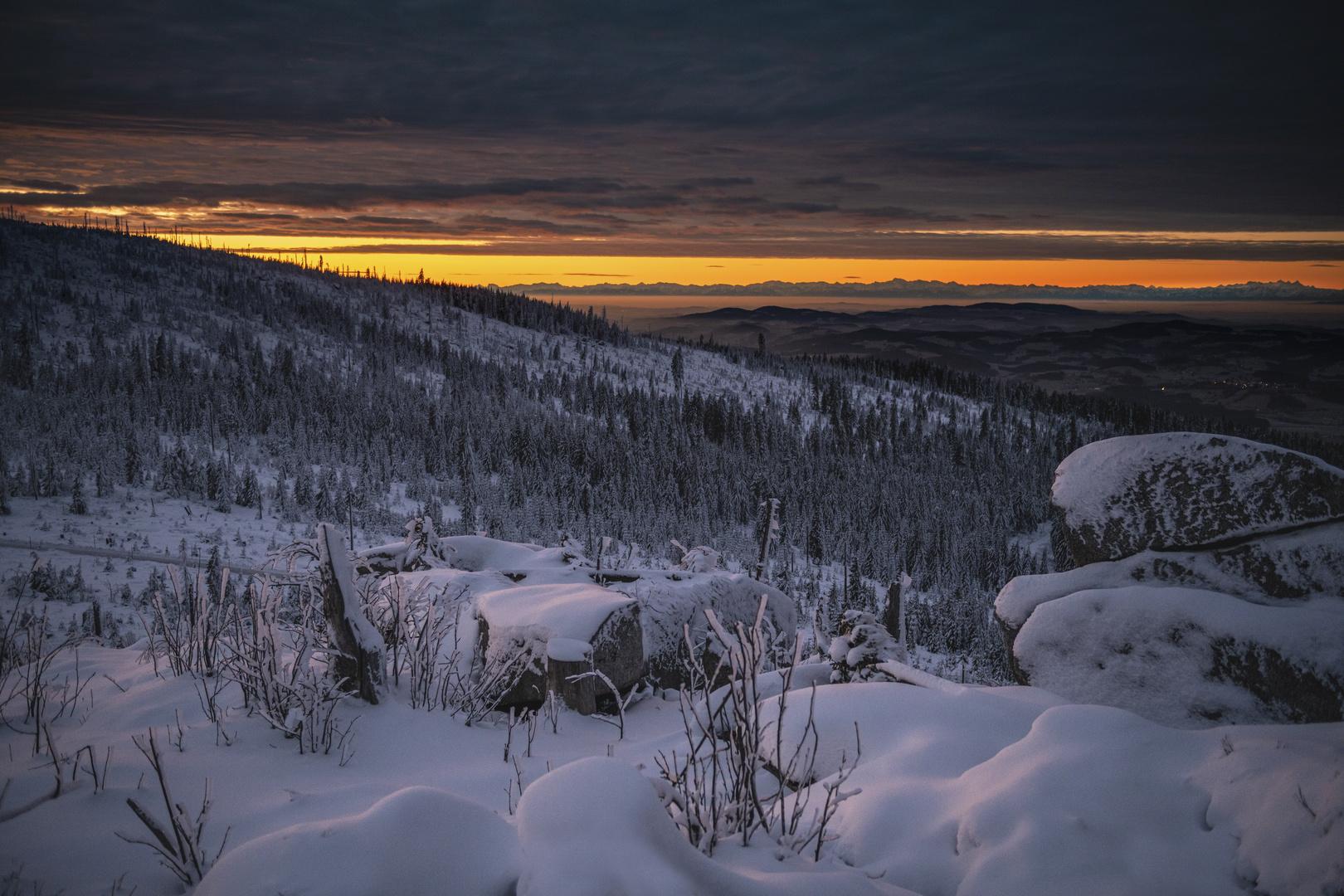 Stille und Ruhe kurz vor Sonnenaufgang