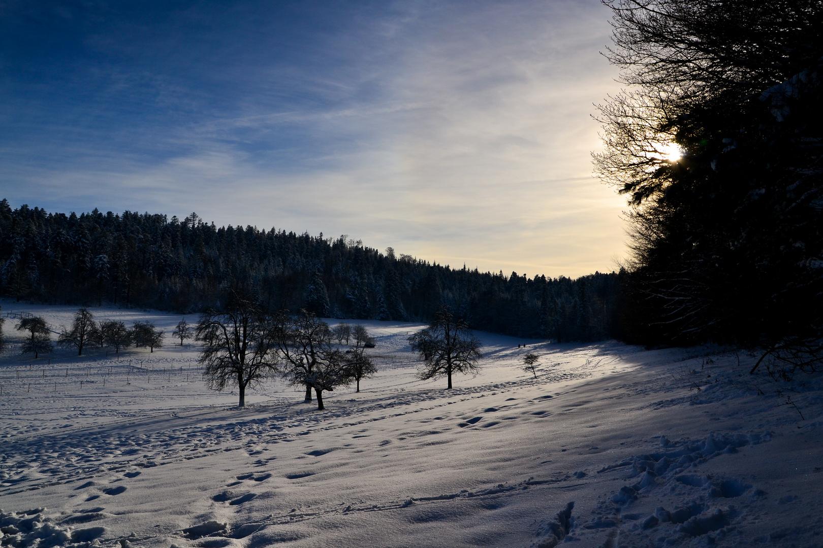Stille vor dem Sonnenuntegang