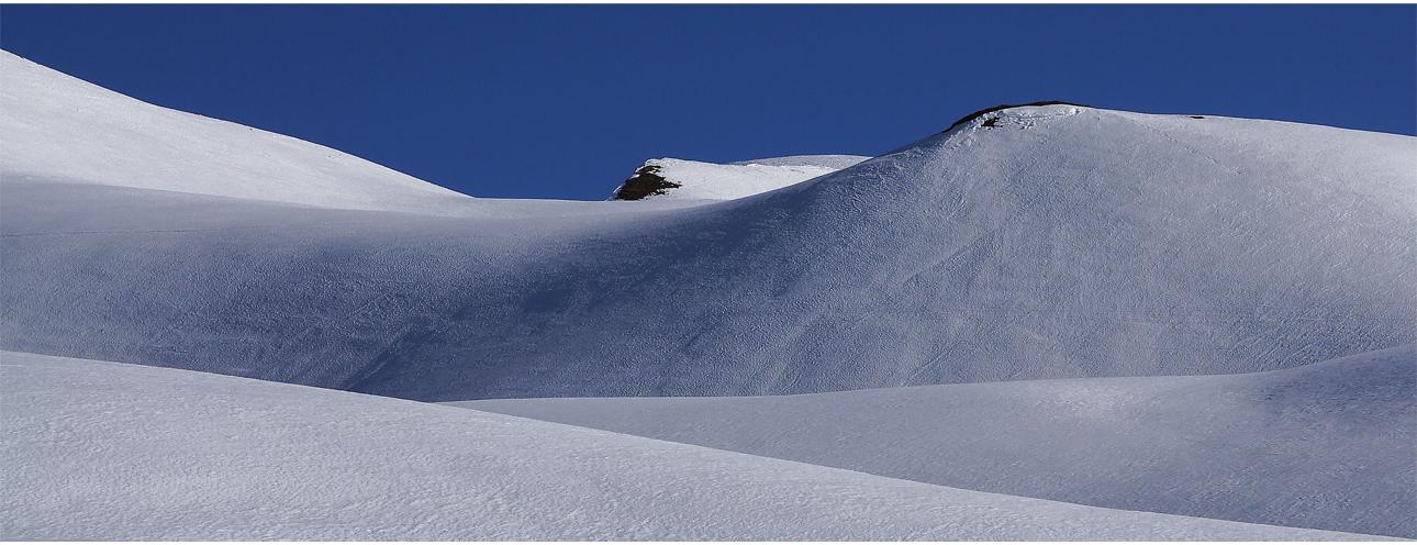 Stille werden vor der Schönheit des winterlichen Hochgebirges