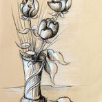 Stillleben 3 Rosen in Vase