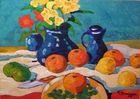 Stillleben mit blauer Vase