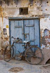 Stillleben mit Fahrrad