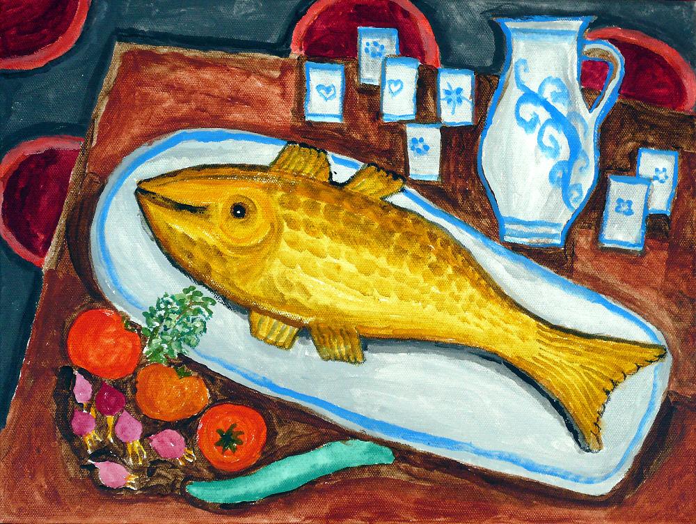 Stillleben mit Fisch