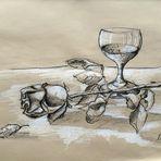 Stillleben ...Rose mit Glas