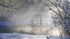 Stimmungsvoll war es an der Leitzach bei Sonne im Winter sehr oft....
