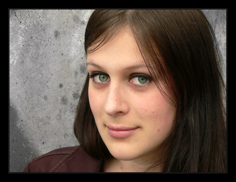 Stinknormales Portrait mit 0-8-15 Rahmen......