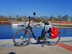 Stölting Harbor in Gelsenkirchen, inkl. meinem Rennrad ;-)