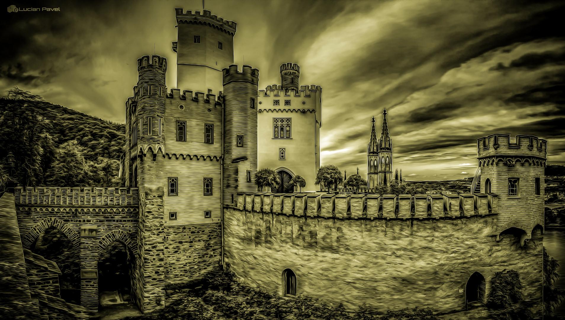 Stolzenfels castle painting