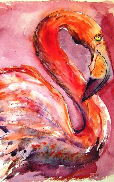 Stolzer Flamingo