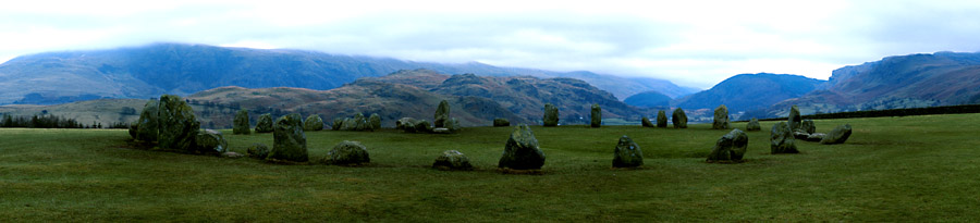 Stonecircle bei Keswick (Lake District, UK)