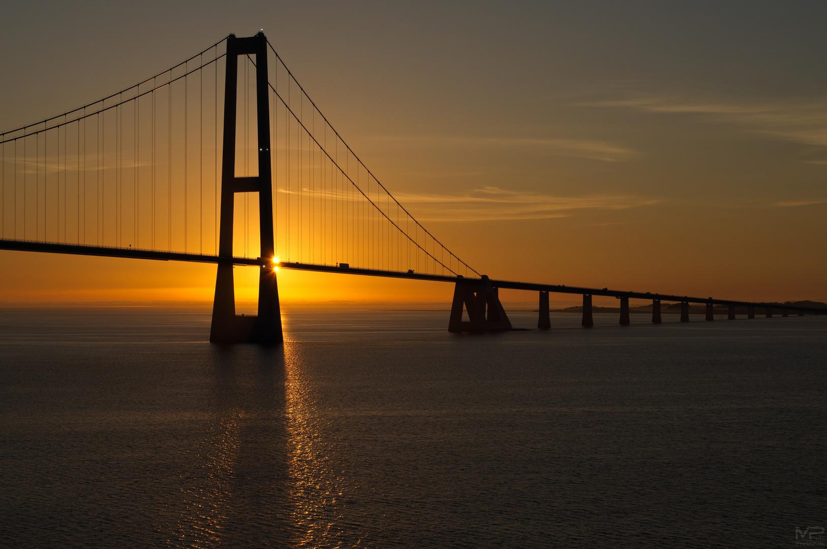 Storebæltsbroen Solopgang