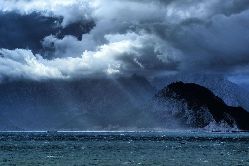 Storm in Antalya Bay