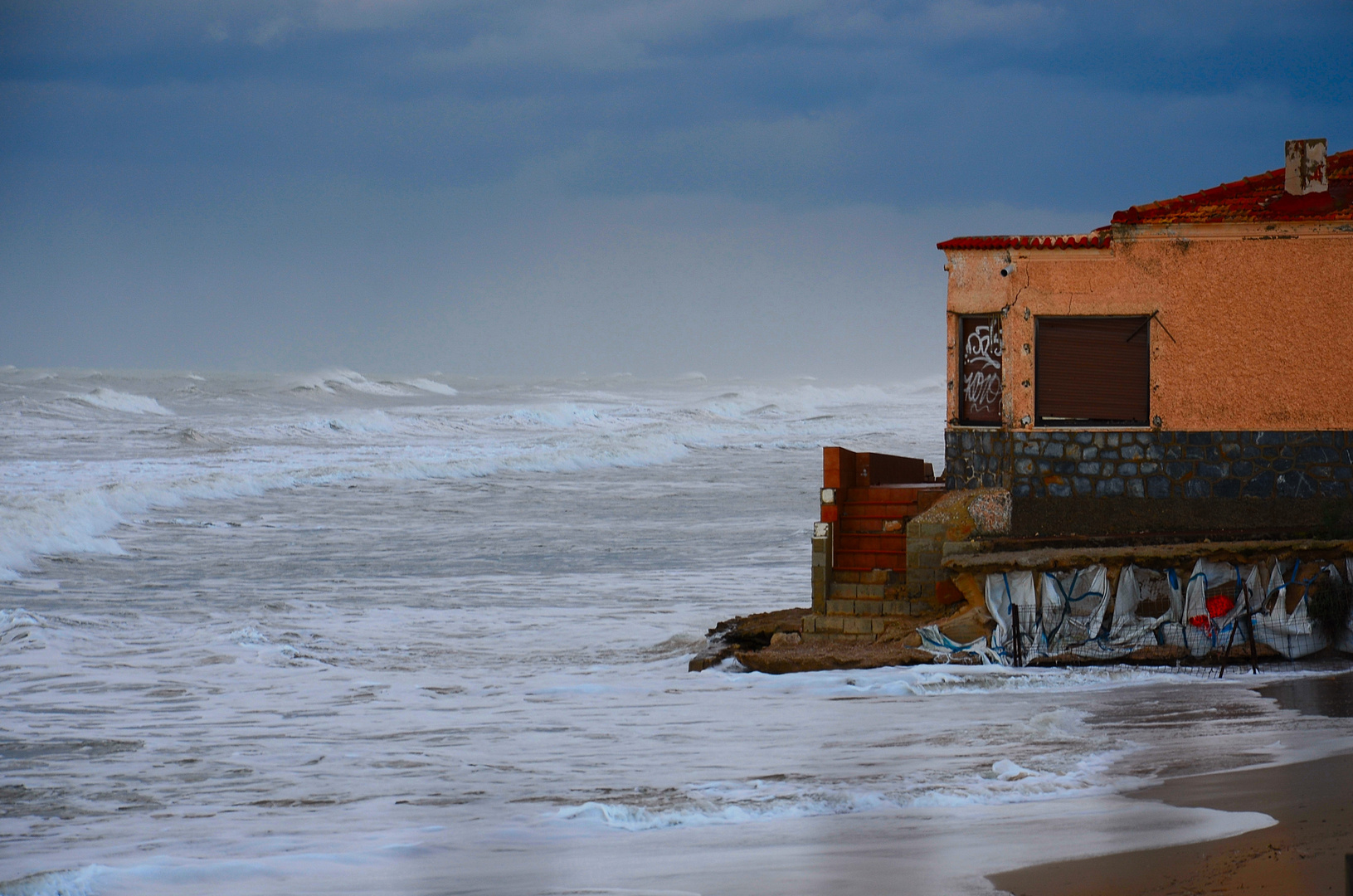 Storm on Guardamar del Segura Beach