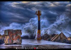 Storm on the Basque Coast
