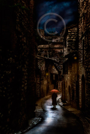 Stormy walk