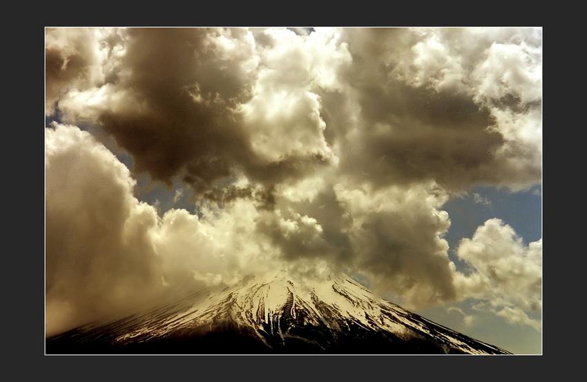 Stormy weather at Fuji San
