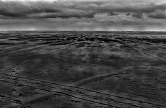 stormy weather upon sand