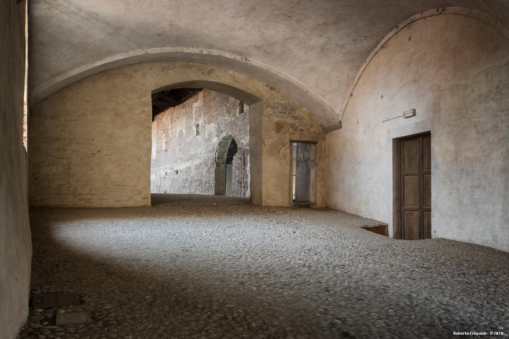 Strada Coperta del Castello di Vigevano, ingresso