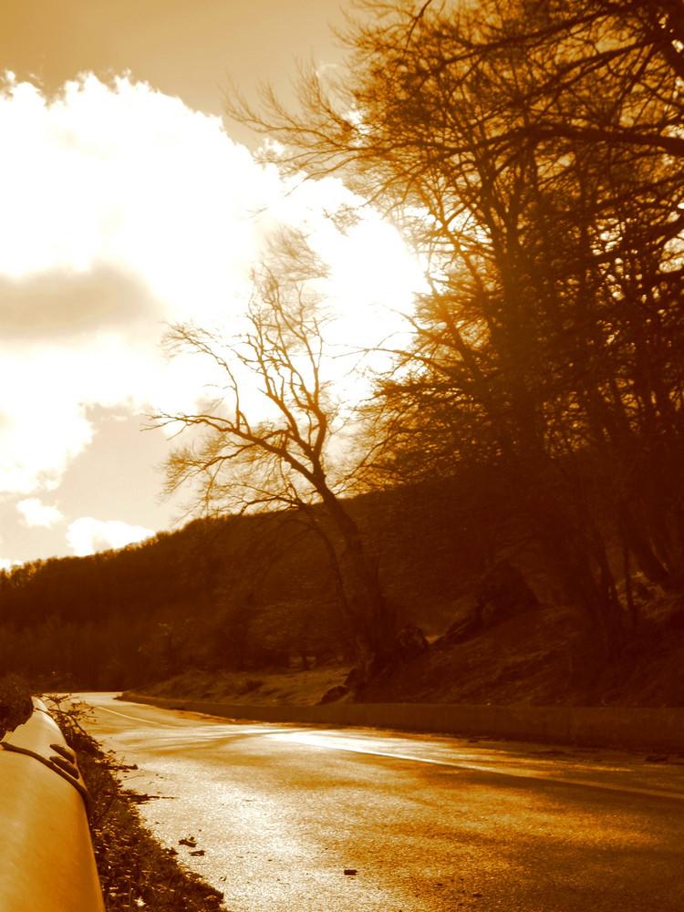 strade d'inverno