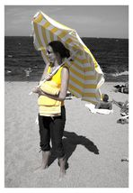 Strahlend am Strand