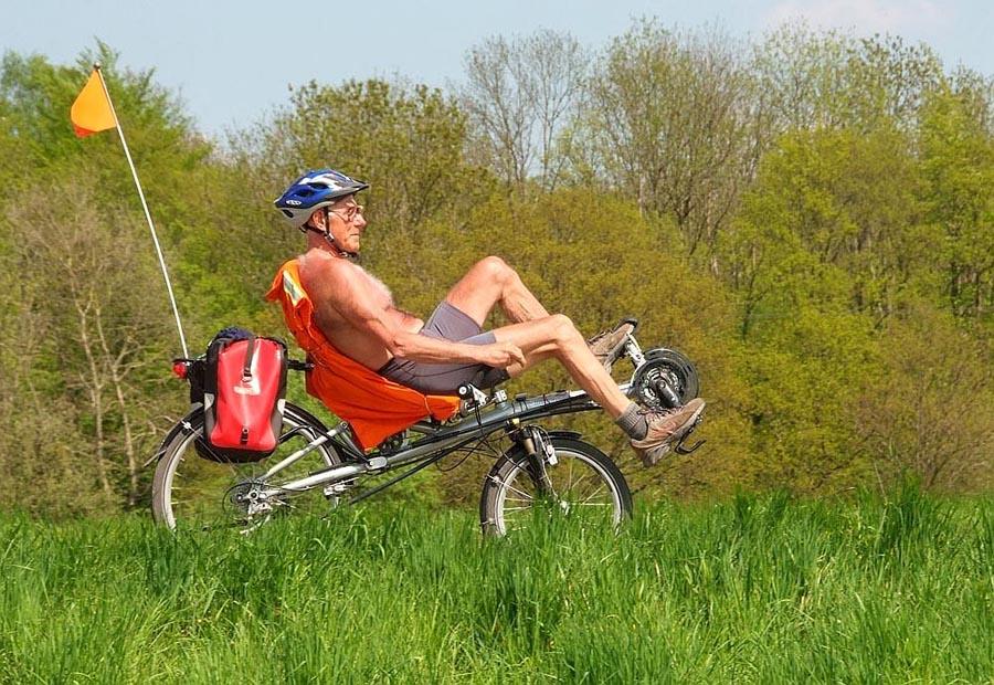 Stramme Wadeln gibt`s beim Radeln !!