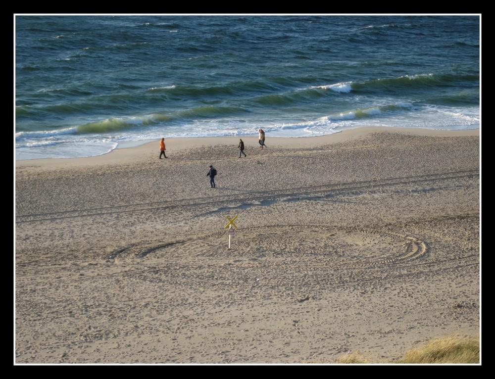 Strand ade - Der letzte Blick auf den Sylter Strand bei Wenningstedt