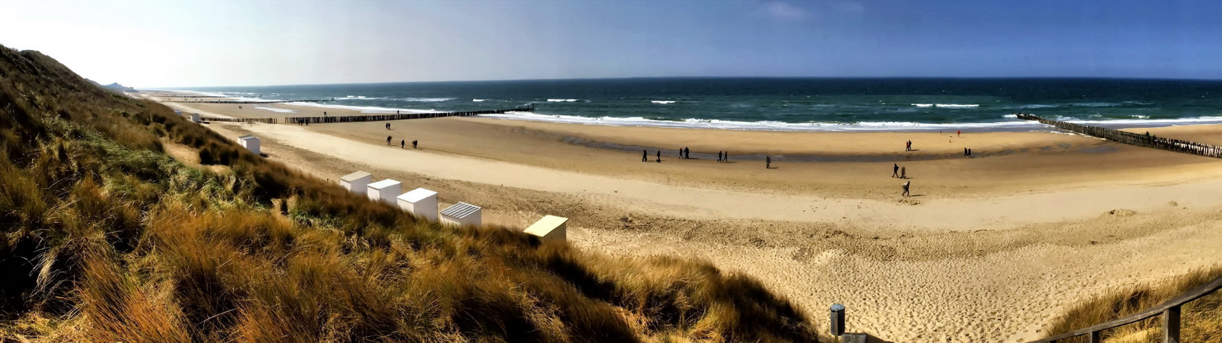 Strand Domburg Holland   - Panorama -