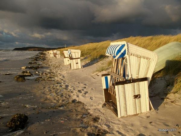 Strand im Herbst