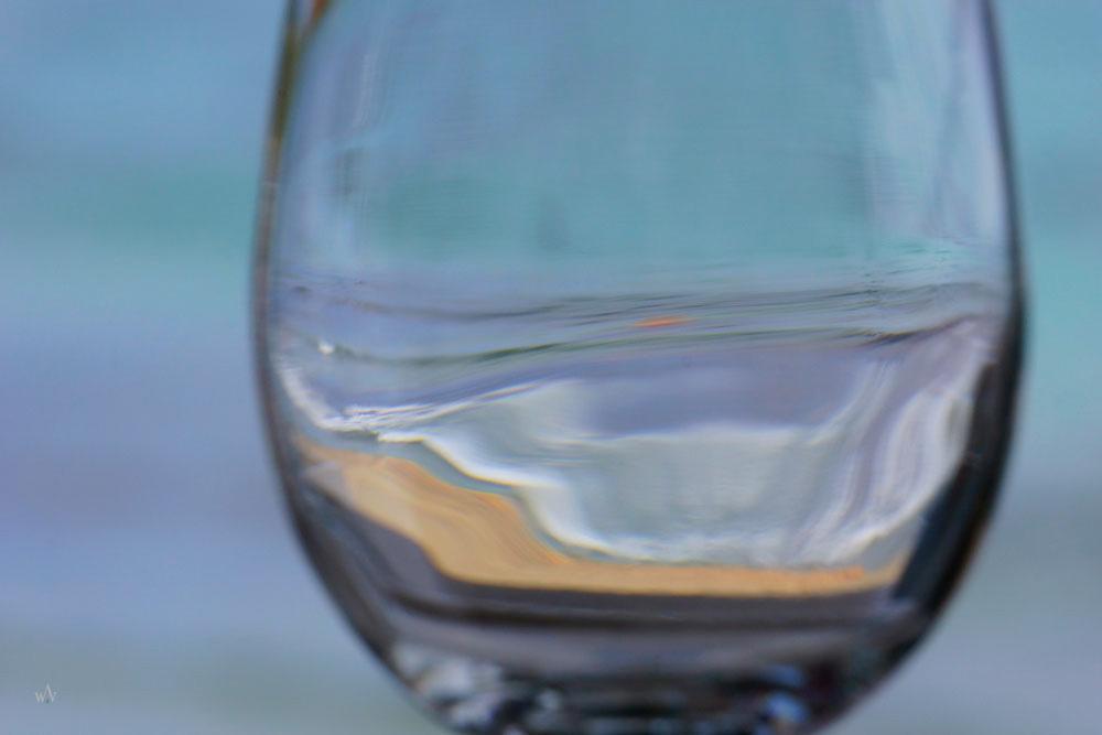 Strand im Weinglas