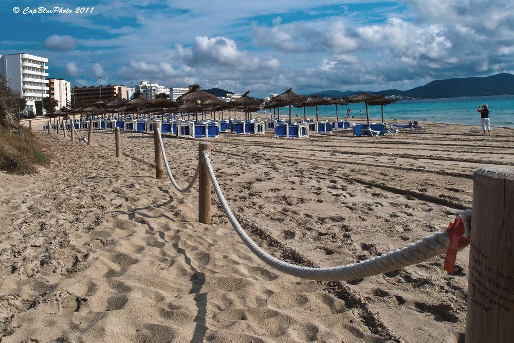 Strand in Calla Major Abends