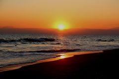 Strand in Goldfarbe