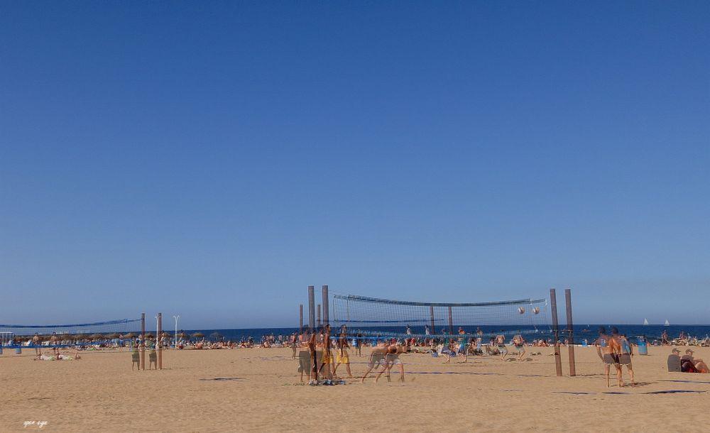 Strand In Valencia Spanien Open Eye