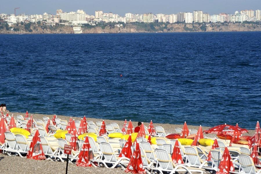 Strand mit Stadtblick...