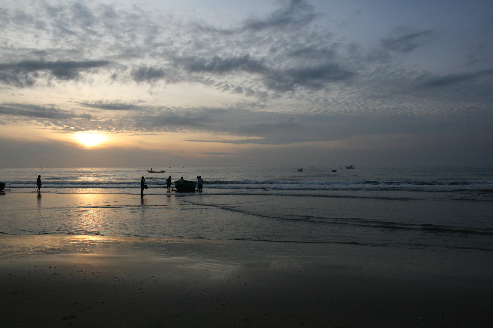 Strand Mui Ne Vietnam am frühen Morgen