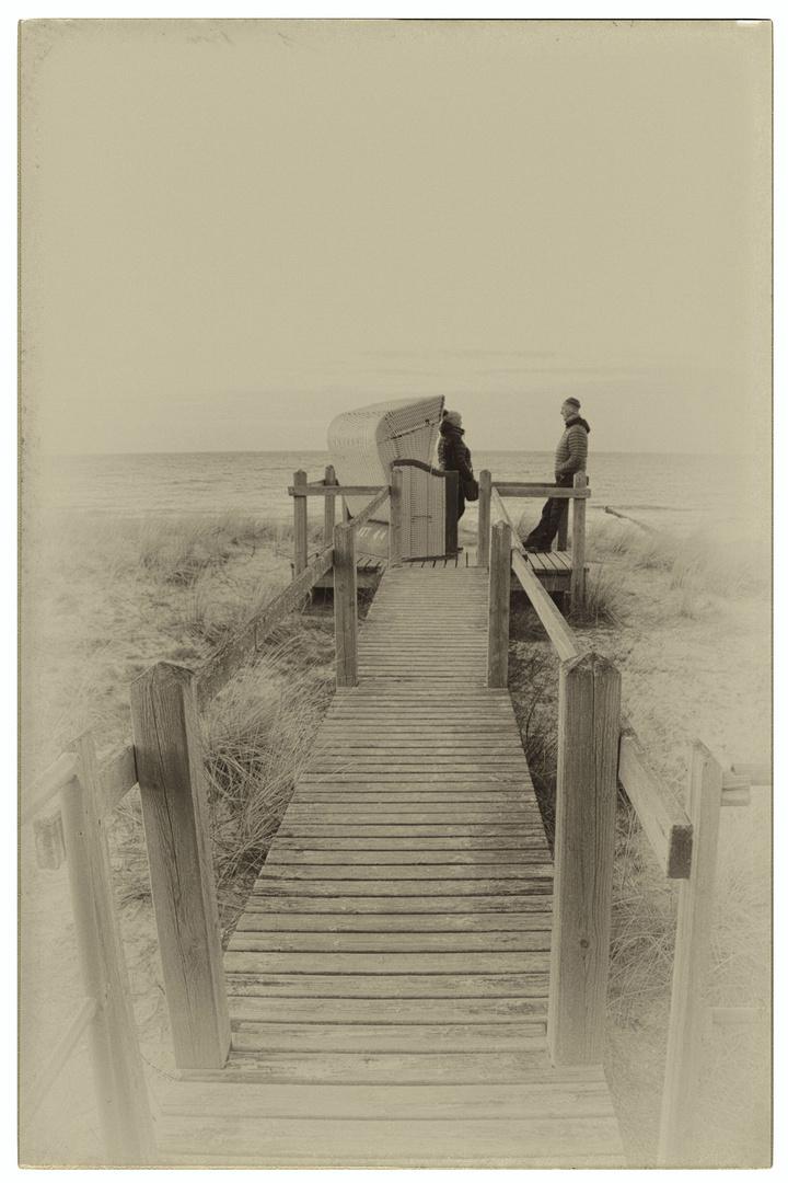 Strand-Steg