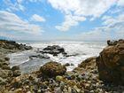 Strand und Felsen in Side ( Türkei)