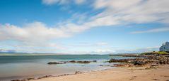 Strand von Port Charlotte, Islay, Schottland, mit Langzeitbelichtung