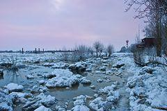 Strand Wittenbergen im Winter