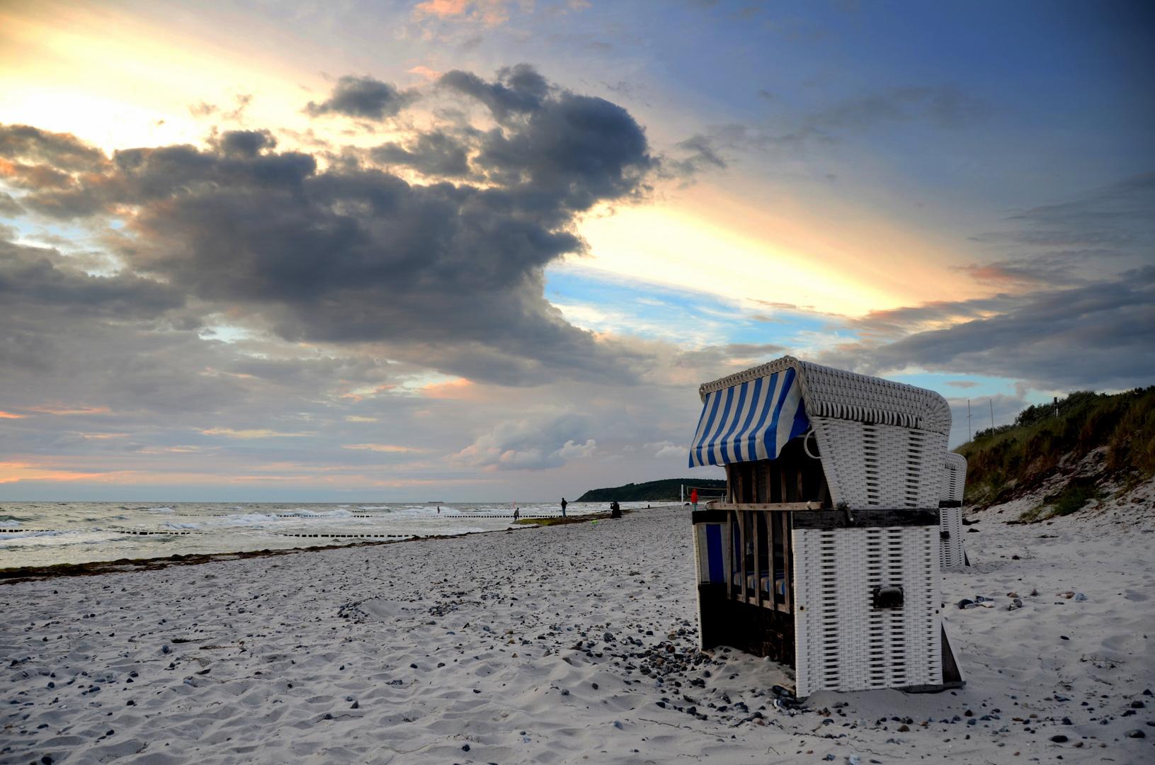 Strand zum Abend