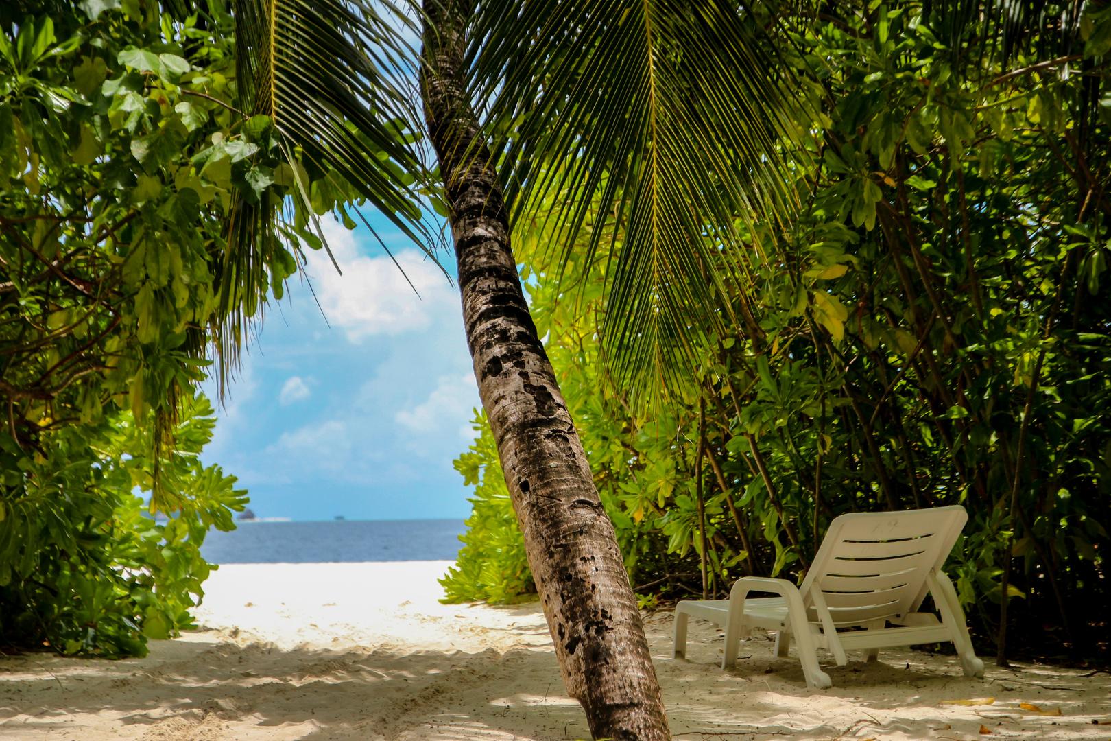 Strandblick auf den Malediven
